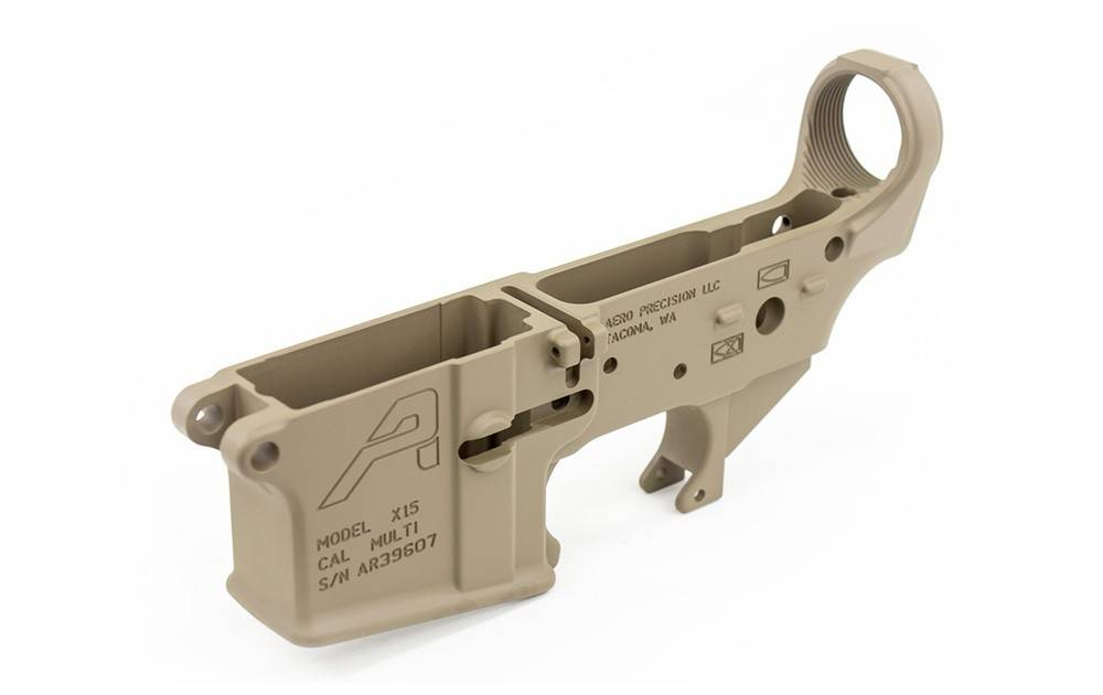Aero Precision AR15 Stripped Lower Receiver - FDE Cerakote