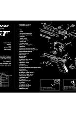 TekMat TEKMAT PISTOL MAT FOR GLK GEN 4 BLK