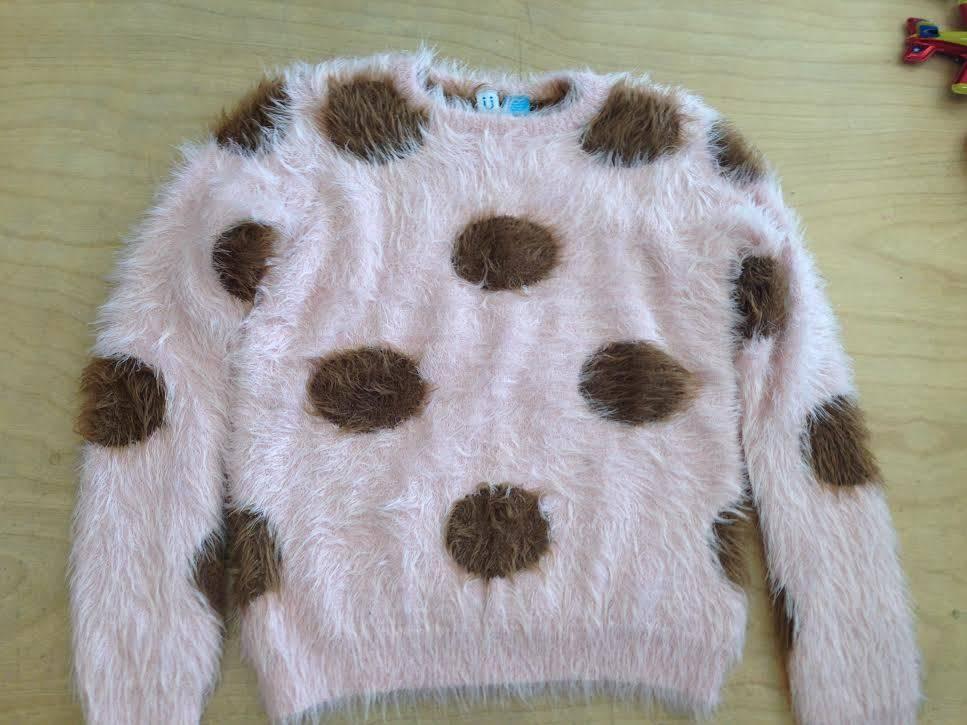 Blu Blu Mocha Fuzzy Sweater