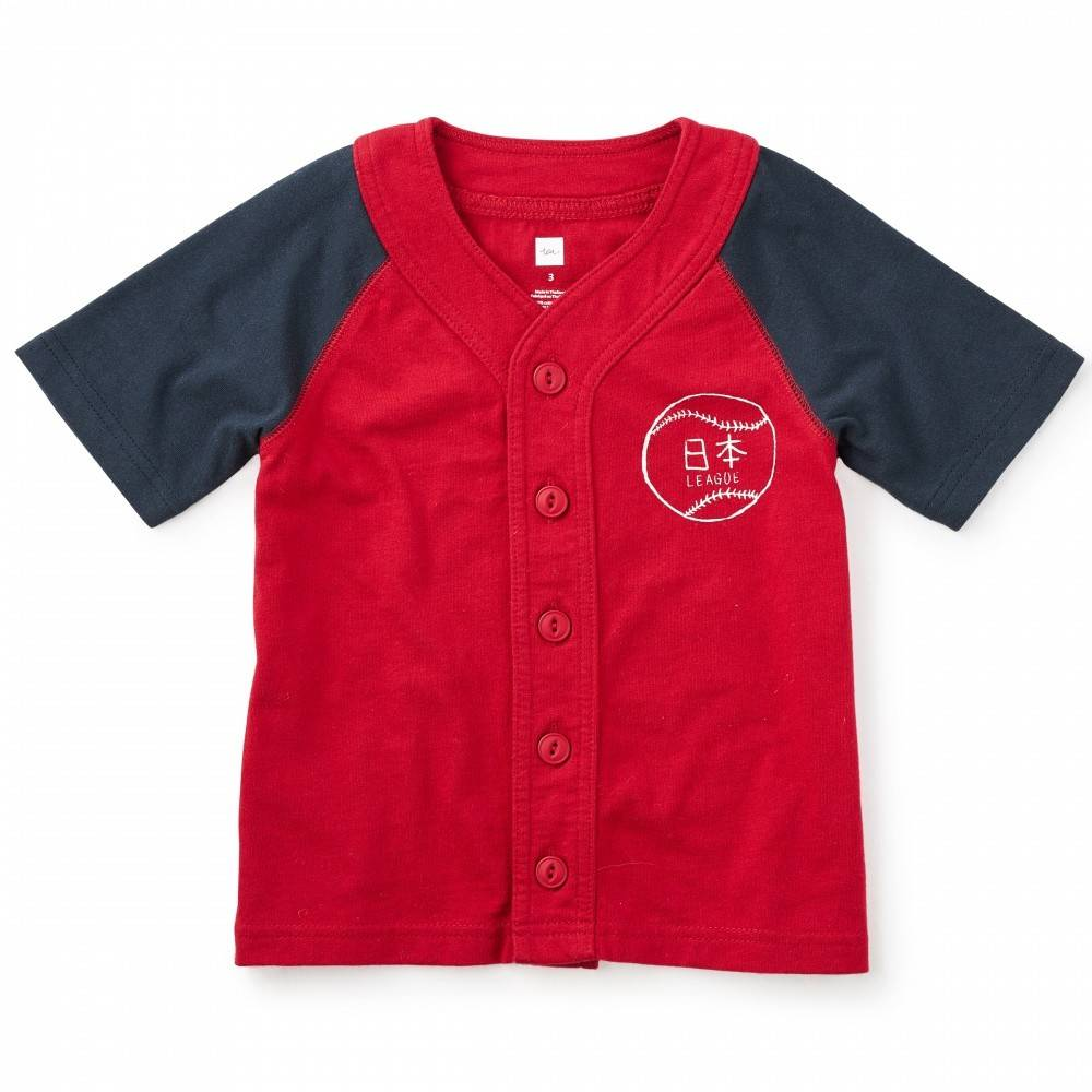 Tea Tea Yokohama Baseball Tee China Red