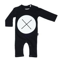 Hux Baby Hux Baby Circle Cross LS Romper