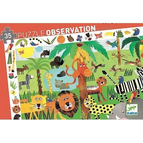 Djeco Djeco Puzzle Observation Jungle 35pcs