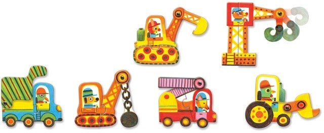 Djeco Djeco Puzzle Duo - Vehicles