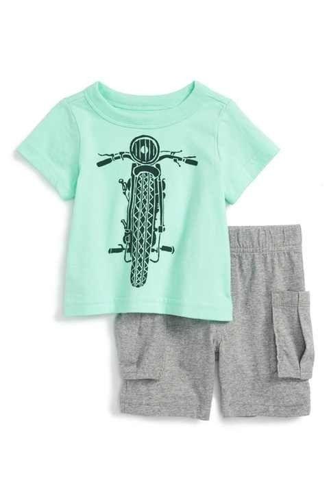 Tea Tea Throttle Baby Outfit