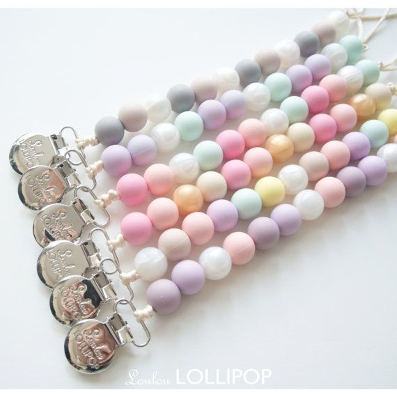 Loulou Lollipop Loulou Pacifier Clip Girl