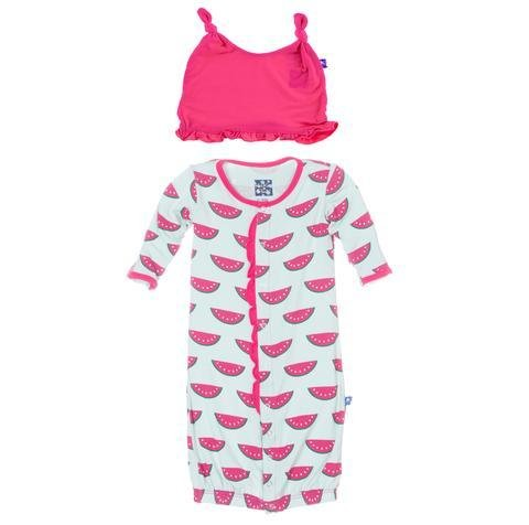 KicKee Pants Kickee Layette/Hat Set