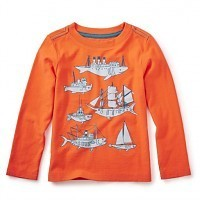 Tea Tea Fish Ships Graphic Tee