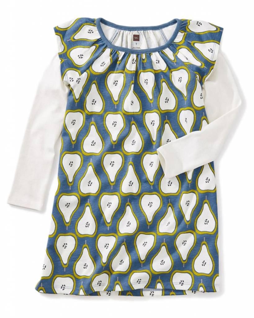 Tea Tea Layered Flutter Dress - Pear