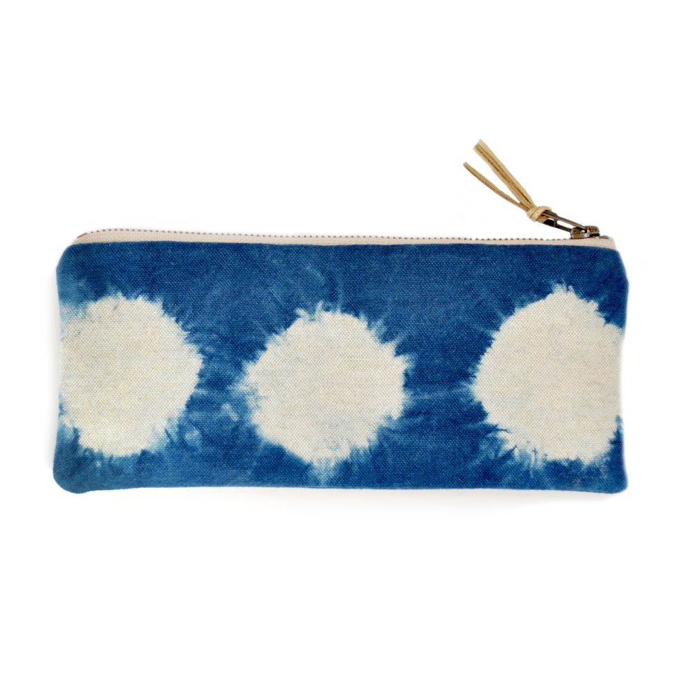 Gray Green Goods Shibori Zip Pencil Pouch