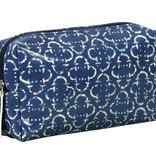 Rockflowerpaper Harriet Navy Laminated Cosmetic Bag