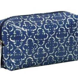 Rockflowerpaper Harriet Navy Laminated Cosmetic Bag