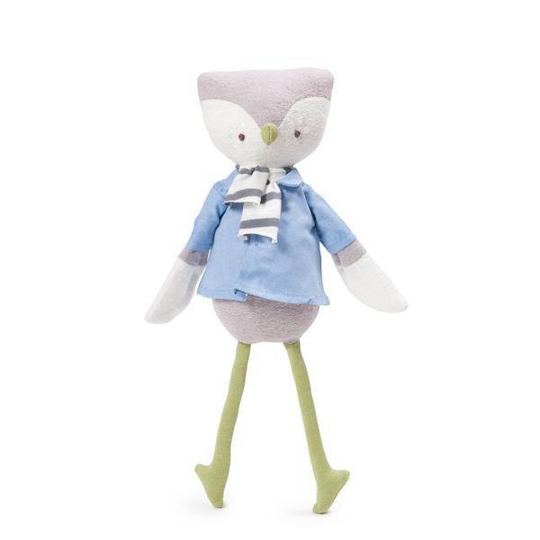 Hazel Village Stuffed Animal Jeremy Owl scarf
