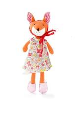 Hazel Village Stuffed Animal Flora Fox in Easter Outfit