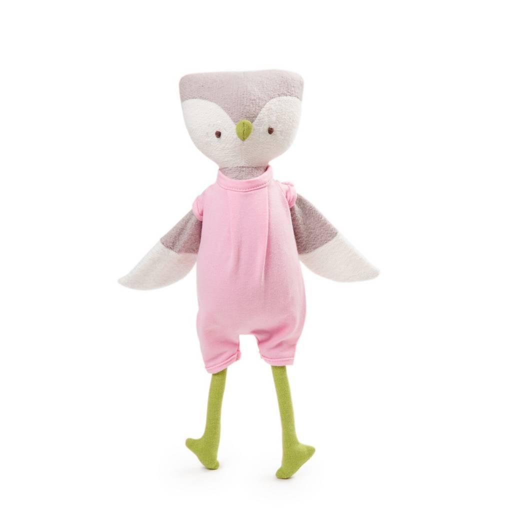 Hazel Village Stuffed Animal Lucy Owl Romper