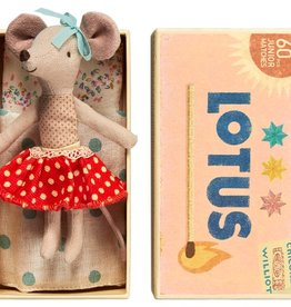 Maileg Mouse Big Sister Red Skirt in Box