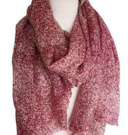 Paisley Road Soft Texture Red Scarf