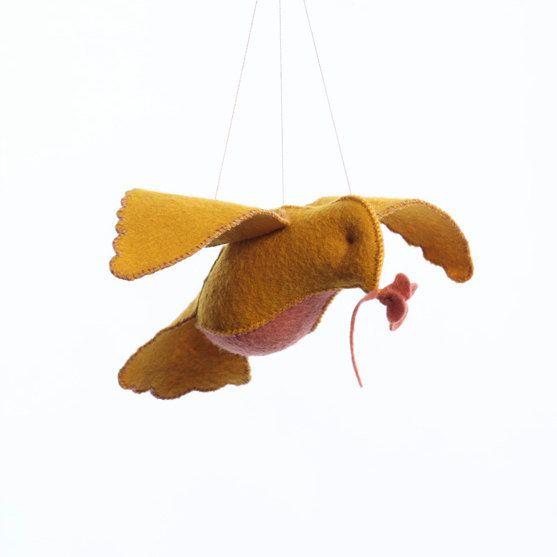 Threadfollower Yellow and Pink Bird in Flight Kit