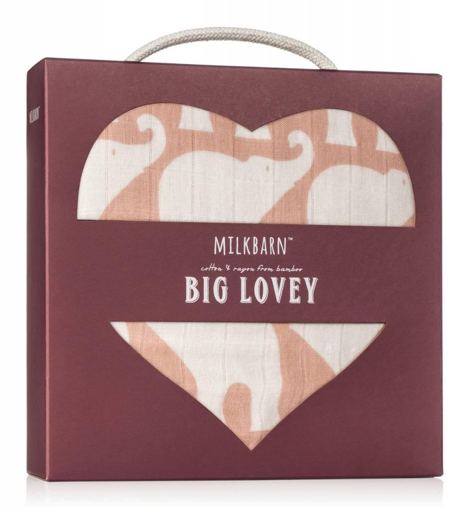 Milkbarn Big Lovey Rose Elephant