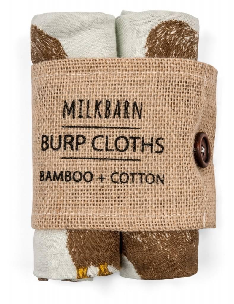 Milkbarn Burp Clothes  Bamboo + Cotton