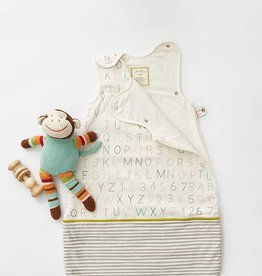 Pehr Designs Buntingbag Grey Stripe / Alphabet 0-6M