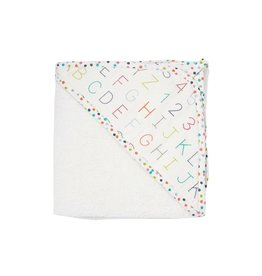 Pehr Designs Hooded Towel Alphabet