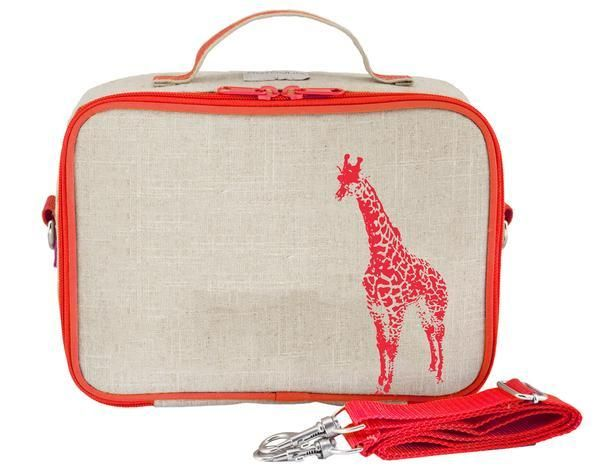 So Young Lunch Box Neon Orange Giraffe