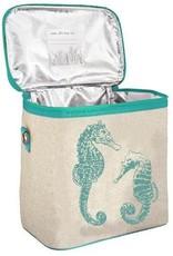 So Young Small Cooler Bag Aqua Seahorses