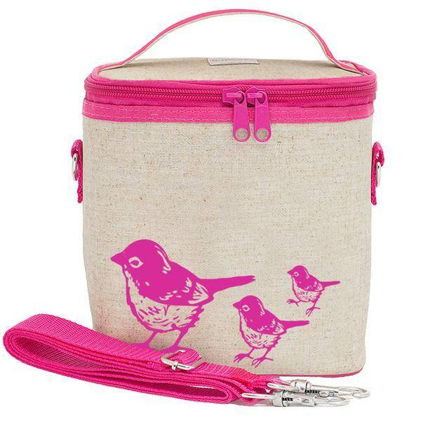 So Young Small Cooler Bag Pink Birds