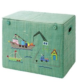 Rice Medium Foldable Toy Basket Harbor Design