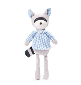Hazel Village Stuffed Animal Max Raccoon Gingham Shirt