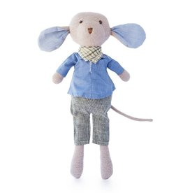 Hazel Village Stuffed Animal Oliver Mouse in Engineer Outfit