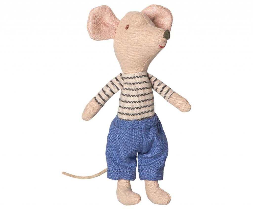 Maileg Mouse Big Brother Striped Shirt in Box