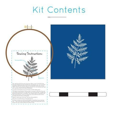 Studio MME Fern Botanical Embroidery Kit