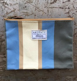 Artifact Zip Pouch Stripes Periwinkle