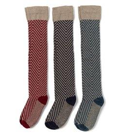 In2Green Over The Knee Socks Herringbone