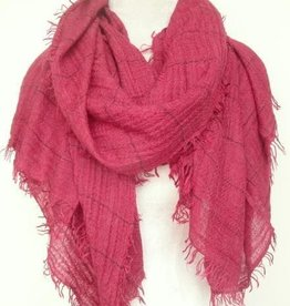 Paisley Road Relaxed grid scarf weathered red