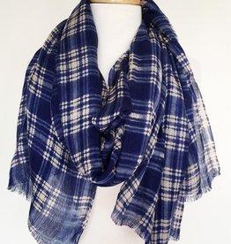 Paisley Road Boxy Blue plaid scarf