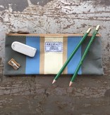 Artifact Pencil Case Stripes Periwinkle