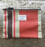 Artifact Zip Pouch Stripes Terracotta