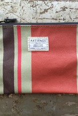 Artifact Zip Pouch Stripes Terracotta