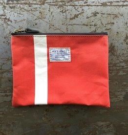 Artifact Zip Pouch Stripes Crimson