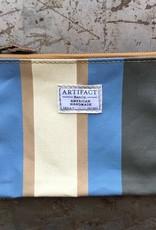 Artifact Zip Pouch Stripes Periwinkle