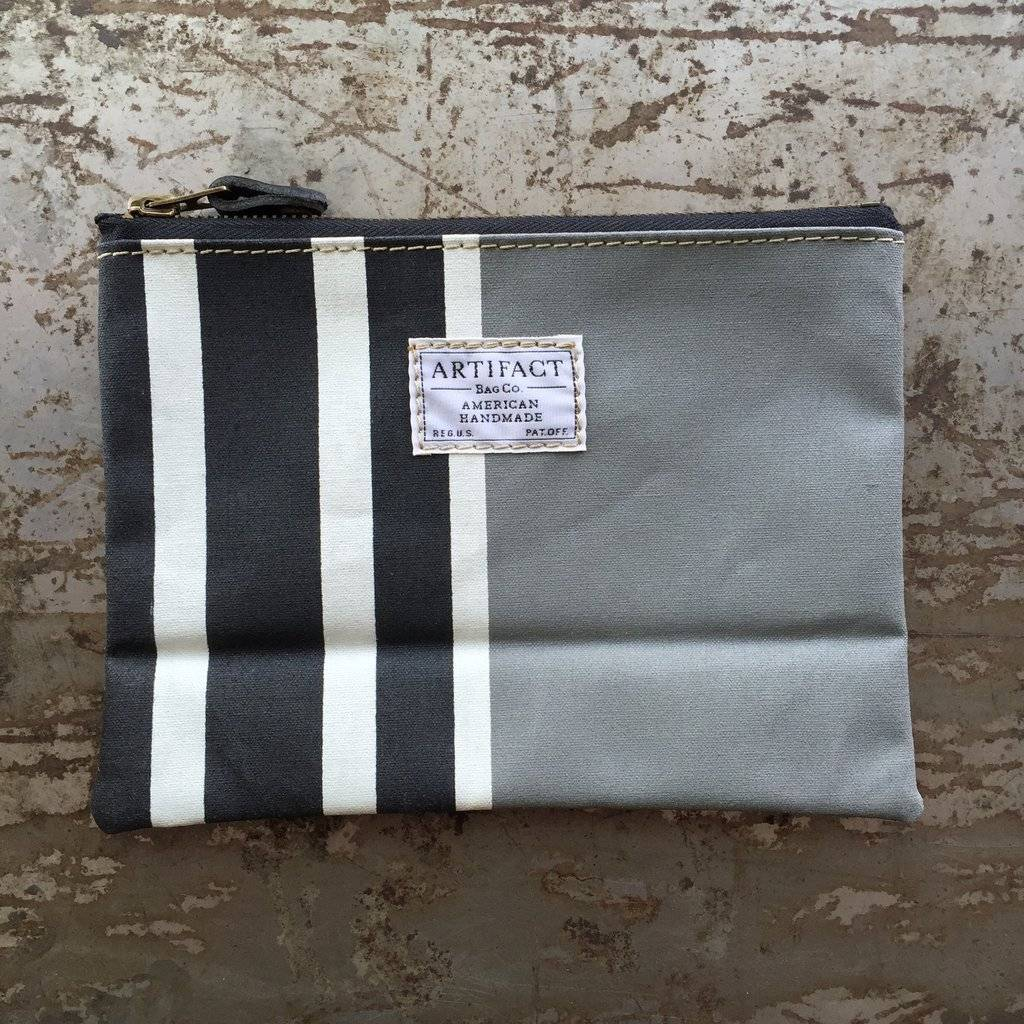 Artifact Zip Pouch Stripes Steel