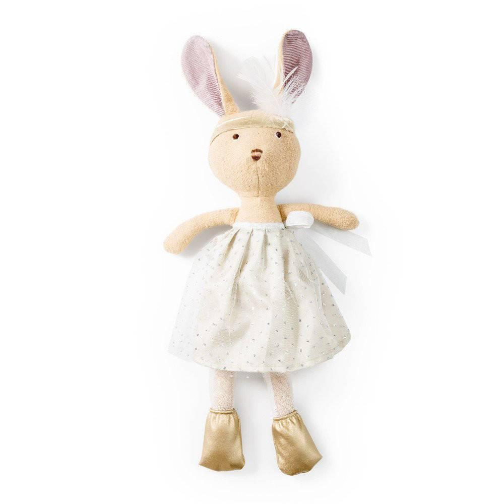 Hazel Village Stuffed Animal Juliette Rabbit Silver and Gold