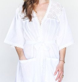 Oh! Fox Morning Robe White