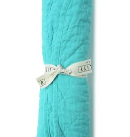 Utility Canvas Quilted Floor Mat Aqua