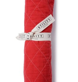Utility Canvas Quilted Floor Mat China Red