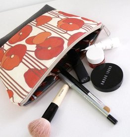 Redstaggerwing Cosmetic Clutch Poppy Linen