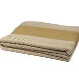 In2Green Blanket Herringbone straw/milk