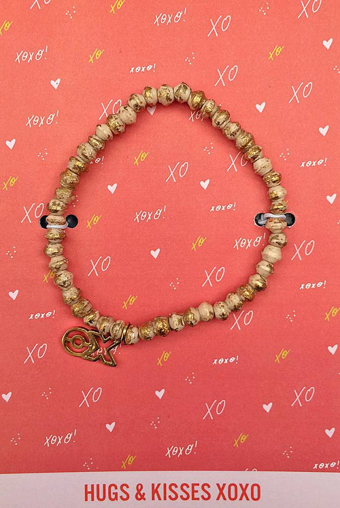 31Bits Love and Friendship Bracelet Cream Gold